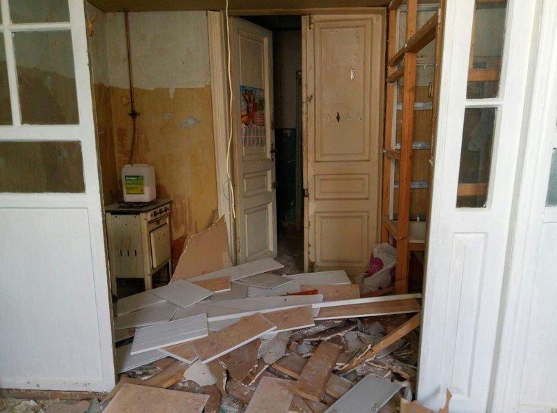 Квартира в купеческом доме, до и после ремонта