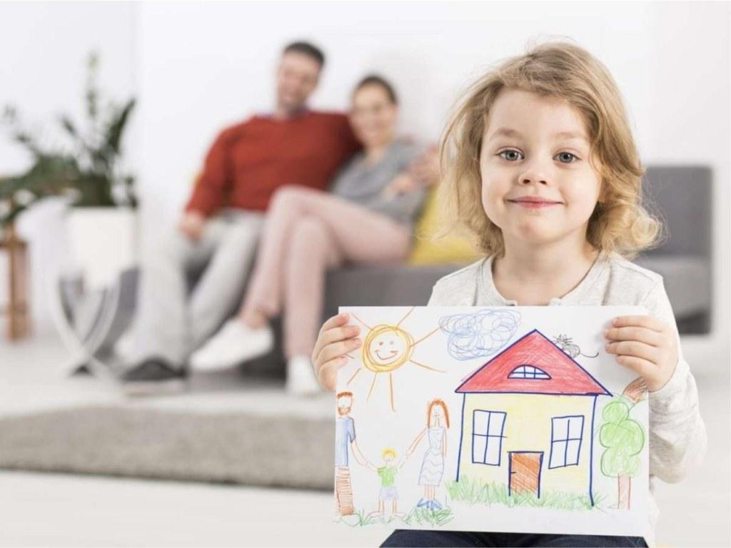 семья, ребенок, рисунок, ипотека