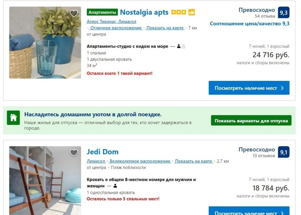 Кипр, аренда гостиницы, цены