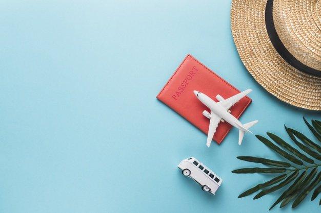 Самолет, паспорт, билеты, отдых, отпуск