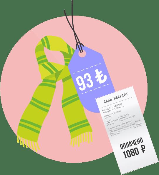 Покупка в рублях с карты VISA