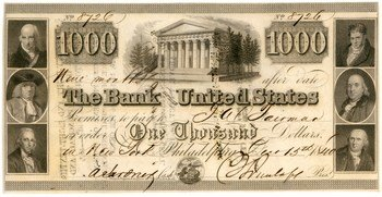 $1,000 note from 1840. Courtesy American Numismatic Society
