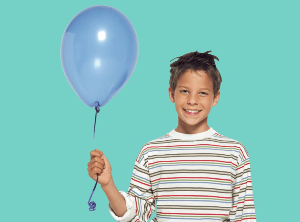подросток, шарик