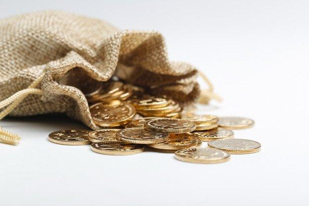 монеты, мешок