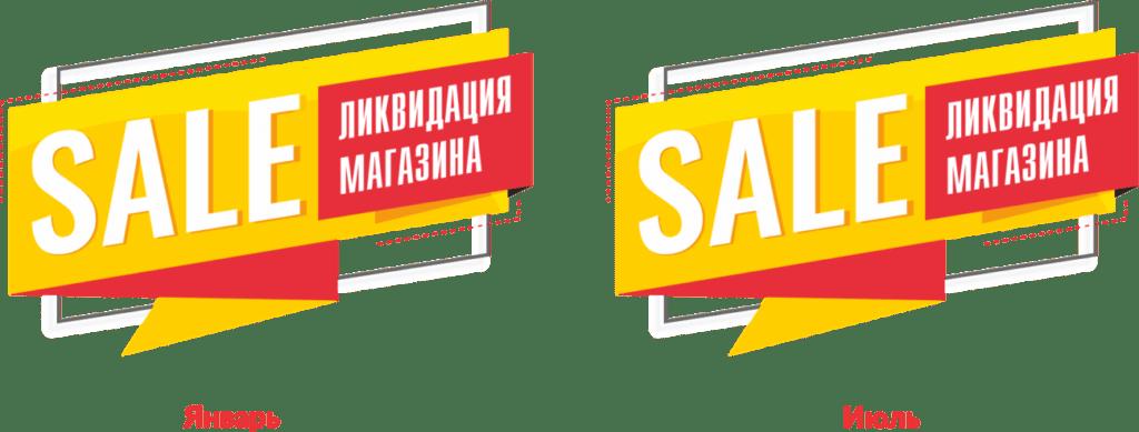 ликвидация магазина, распродажа