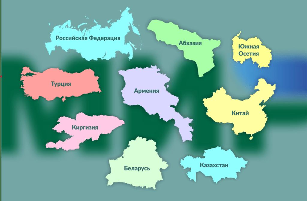 карта мир где принимают