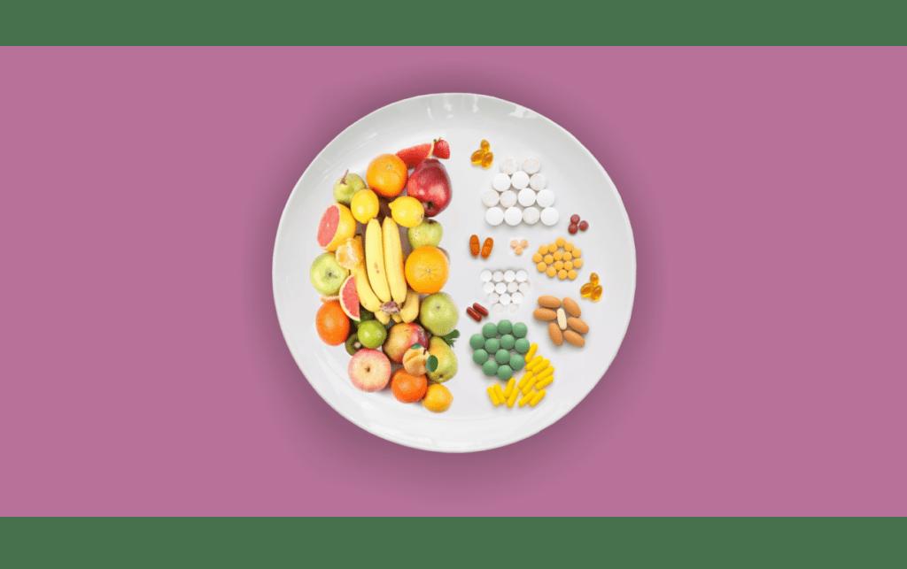 витамины, фрукты, таблетки
