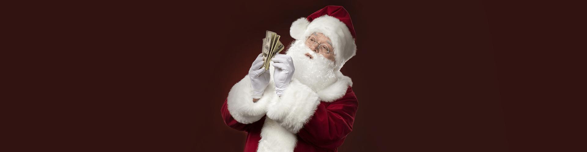 дед мороз, подарки, деньги, новый год