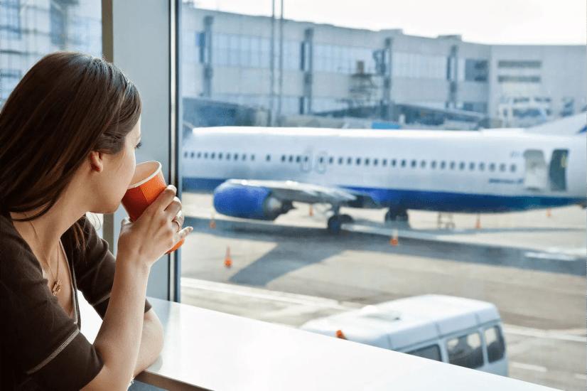 Аэропорт, кофе, самолет