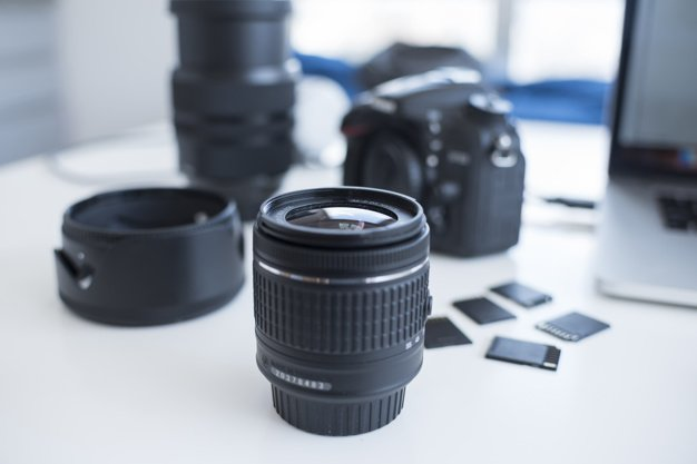 объектив, фотоаппарат