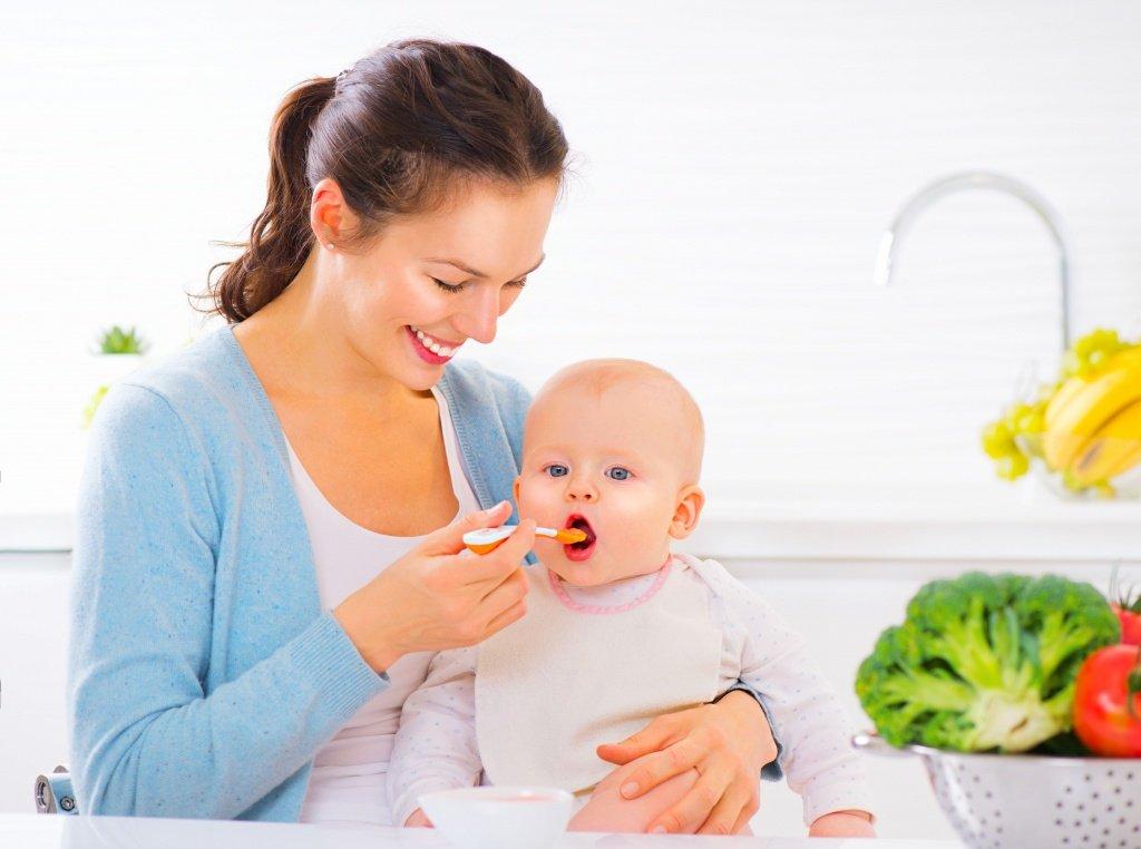 мама, ребенок, еда, прикорм