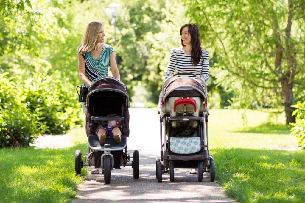 мамы, дети, коляска, прогулка