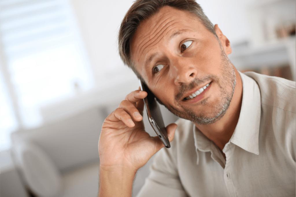 мужчина, разговор, телефон