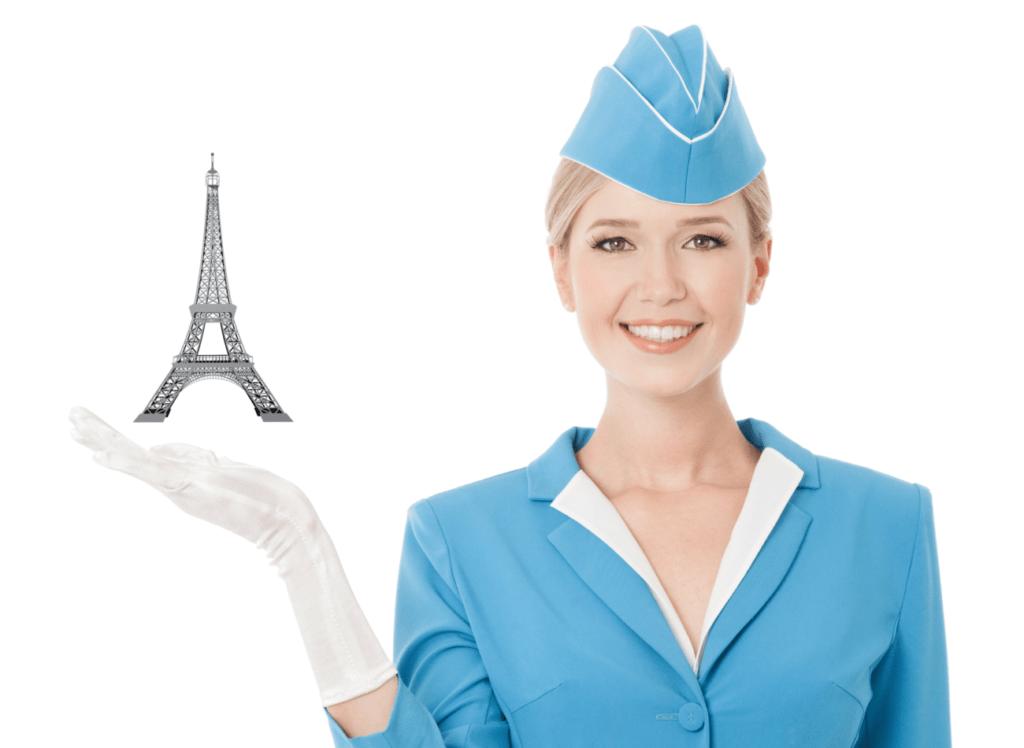 стюардесса, париж