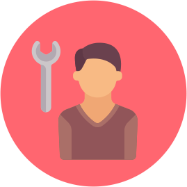 человек, гаечный ключ