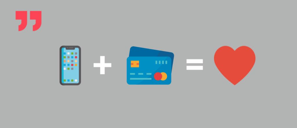 телефон, кредитная карта, любовь
