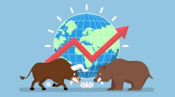 бык, медведь, биржа, котировки, рост