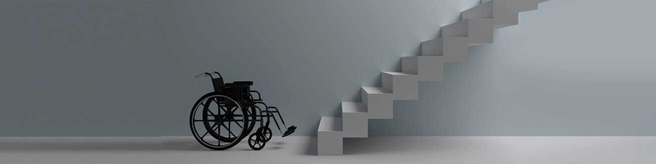 инвалидное кресло, лестница, сложности