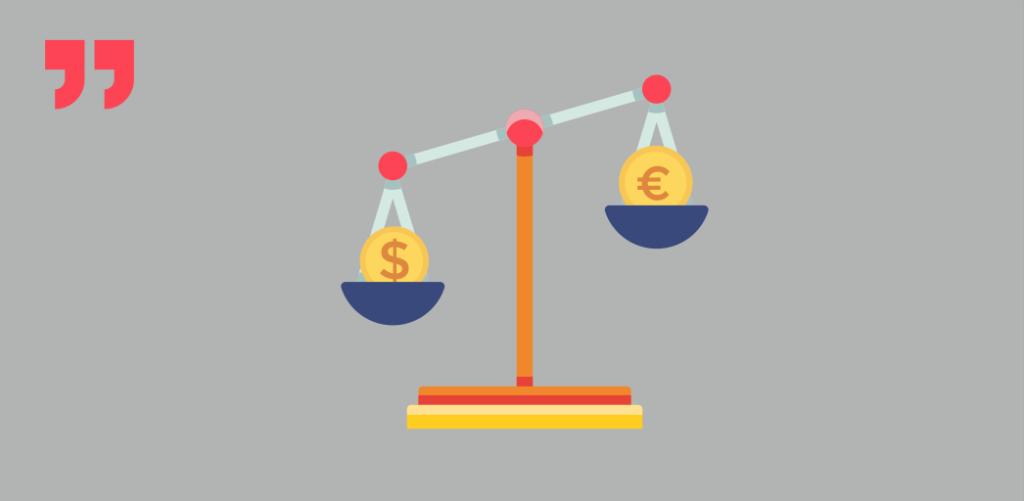 весы, доллар, евро