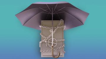 защита, замок, сейф, зонт