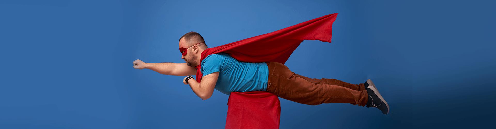 супермен, мужчина, летит, карты, мили, аэрофлот