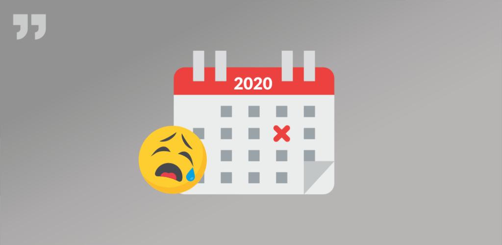 календарь, 2020, грусть