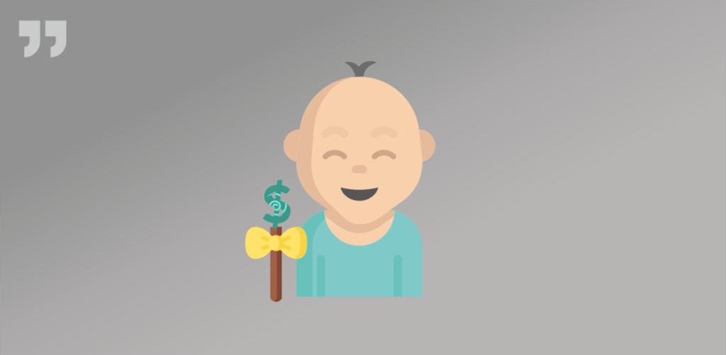 ребенок, леденец, доллар