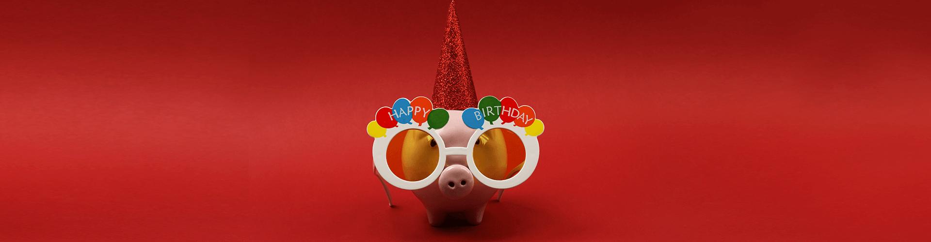 день рождения, копилка, праздник