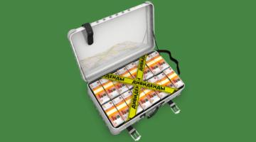 дивиденты, деньги, чемодан