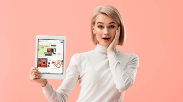 eBay, выгодные покупки, планшет, девушка, блондинка