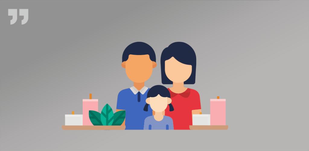 семья, свечи