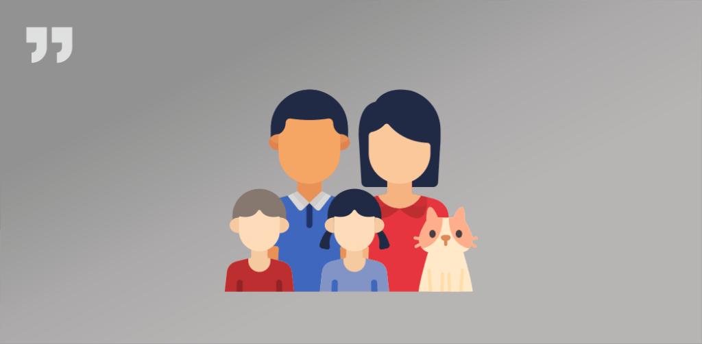 семья, кот