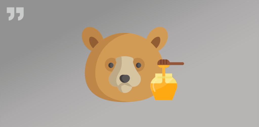 Медвежья услуга, медведь, мёд