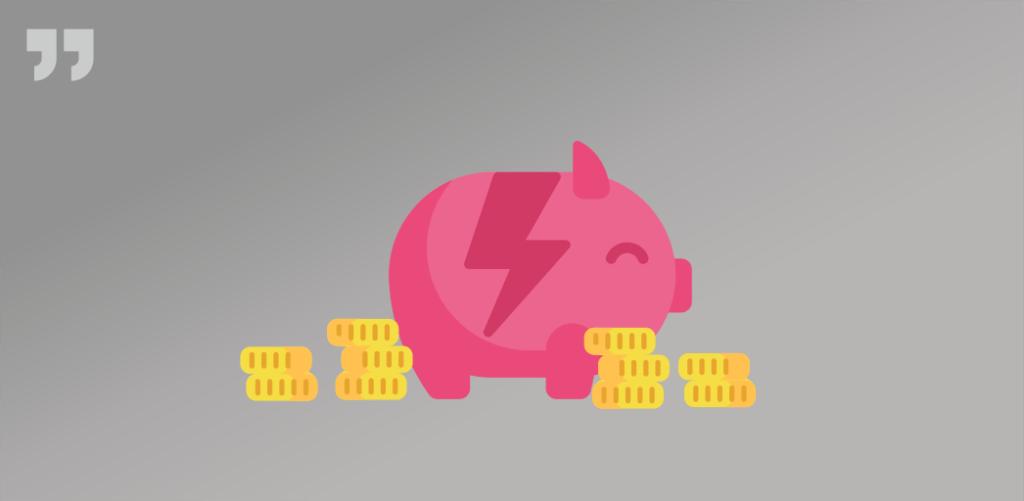 разбитая свинья-копилка с рассыпанными рядом монетками