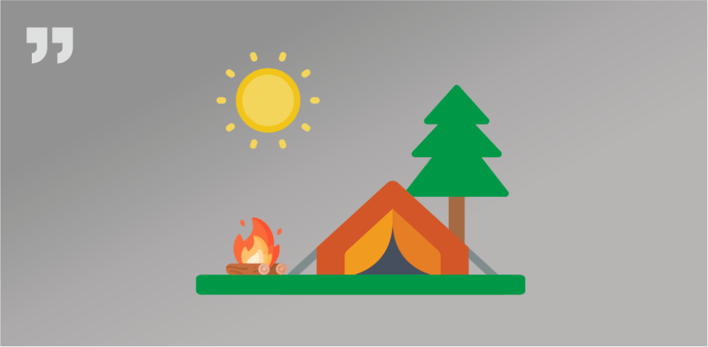 палатка, костер