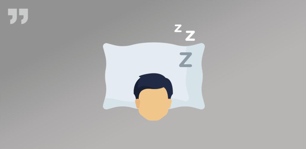 Человек спит спокойно