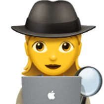 детектив, лупа, ноутбук