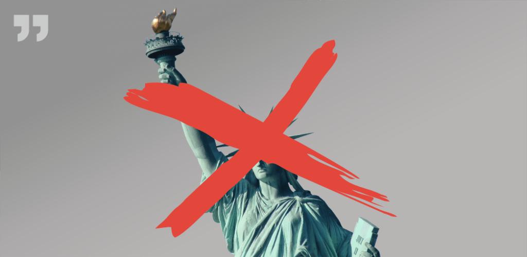 статуя свободы перечеркнута
