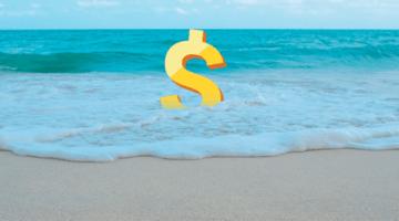 доллар, море