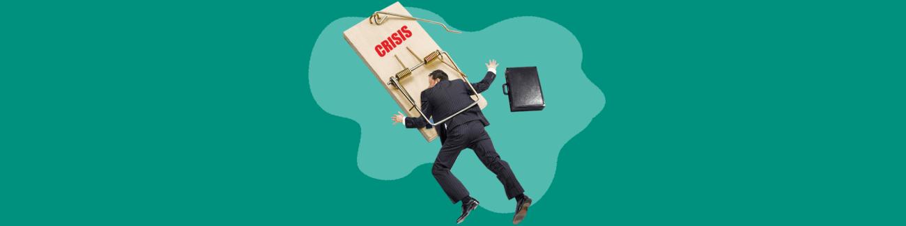бизнесмен, ошибка, кризис, мышеловка