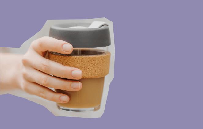 многоразовый стакан кофе