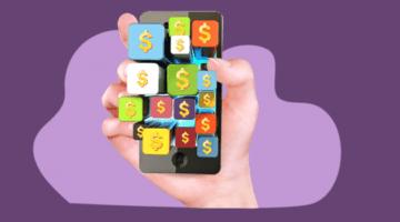 мобильное приложение, телефон, рука, деньги, приложения
