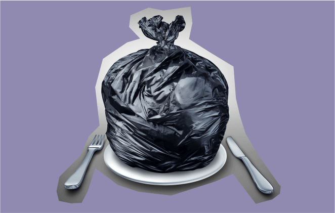 мусор, еда