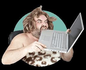 первобытный человек, компьютер