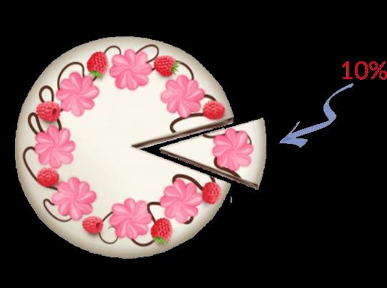 Торт, 10%