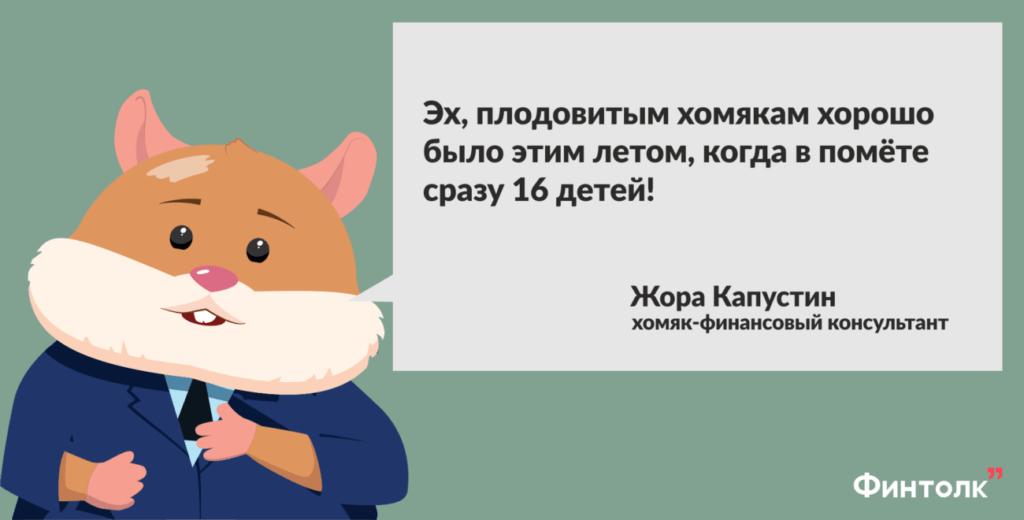 хомяк, финансовый консультант, Жора Капустин