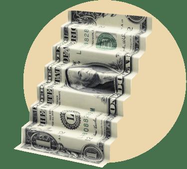 Лестница из денег