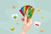 банковские карты, рука, плюс, минус