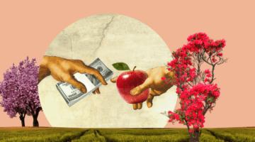 райский сад, руки, деньги