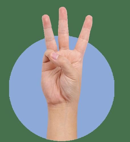 рука, три пальца